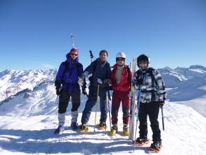 Foto de grupo, cerca del Pico de los Monjes.